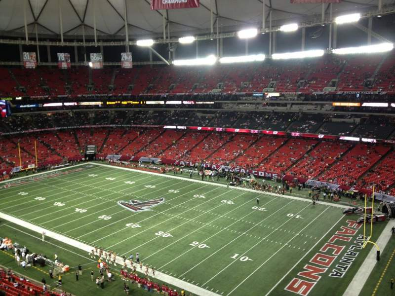 Seating view for Georgia Dome Section 320 Row 10 Seat 23