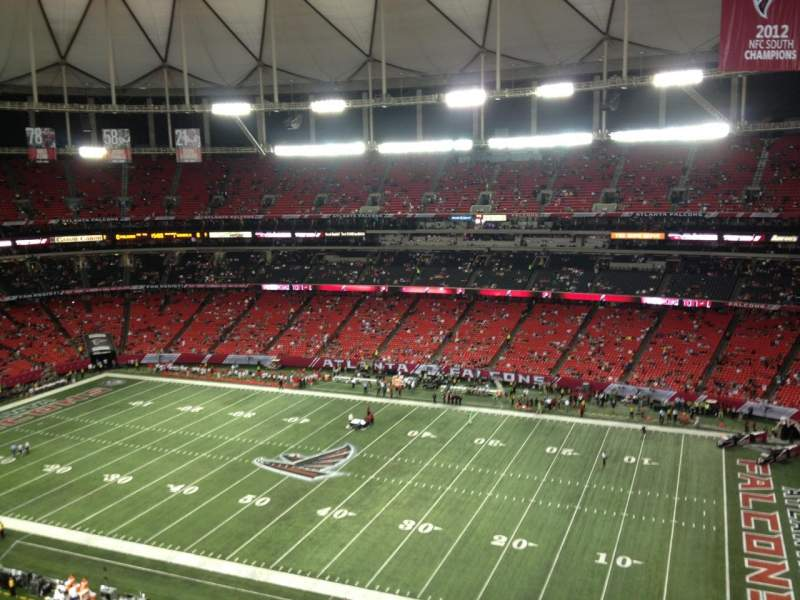 Seating view for Georgia Dome Section 343 Row 9 Seat 3
