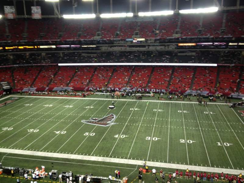 Seating view for Georgia Dome Section 344 Row 11 Seat 12