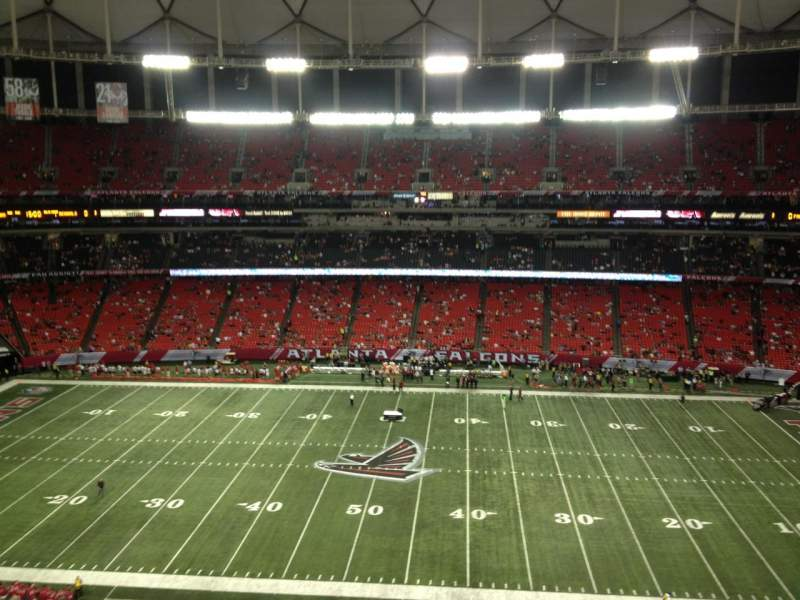 Seating view for Georgia Dome Section 346 Row 2 Seat 22