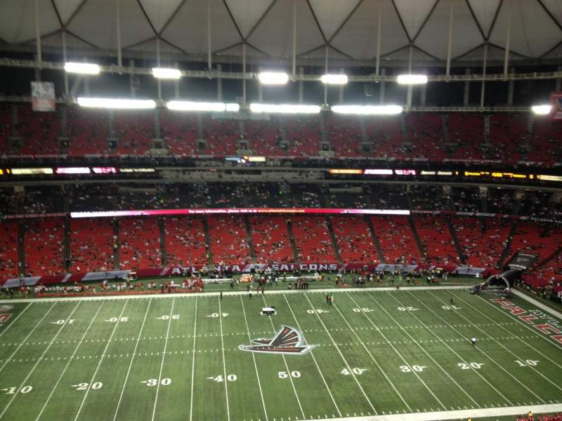 Seating view for Georgia Dome Section 347 Row 5 Seat 14