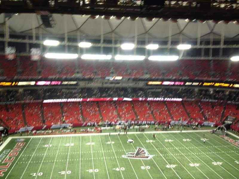 Seating view for Georgia Dome Section 348 Row 15 Seat 6