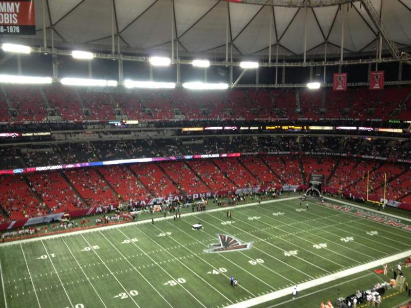 Seating view for Georgia Dome Section 350 Row 15 Seat 24