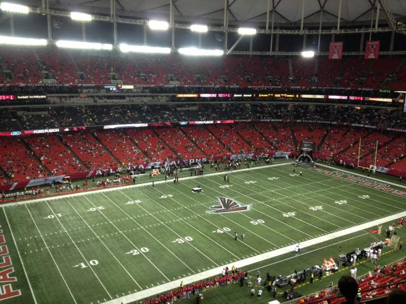 Seating view for Georgia Dome Section 351 Row 9 Seat 1
