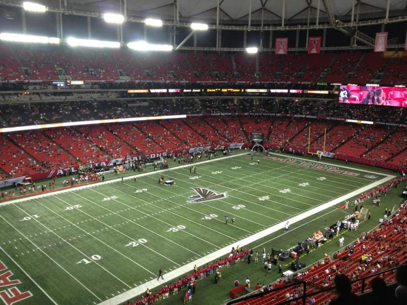Seating view for Georgia Dome Section 352 Row 8 Seat 16