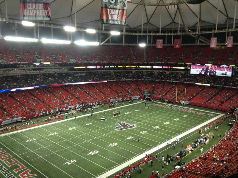 Seating view for Georgia Dome Section 301 Row 5 Seat 13