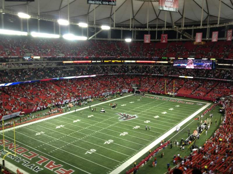 Seating view for Georgia Dome Section 302 Row 10 Seat 19