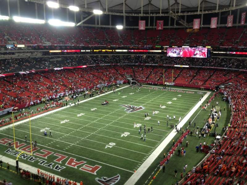 Seating view for Georgia Dome Section 303 Row 3 Seat 6