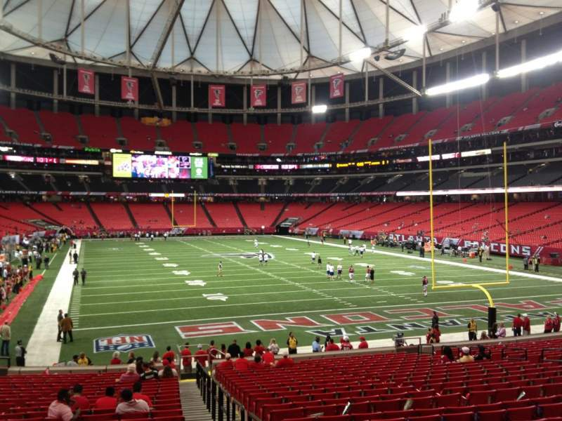 Seating view for Georgia Dome Section 108 Row 25 Seat 25