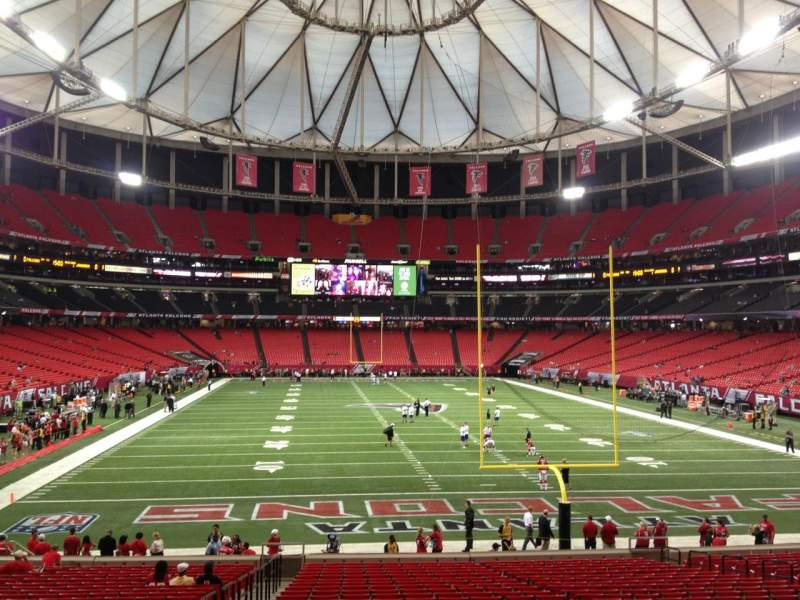 Seating view for Georgia Dome Section 106 Row 26 Seat 3