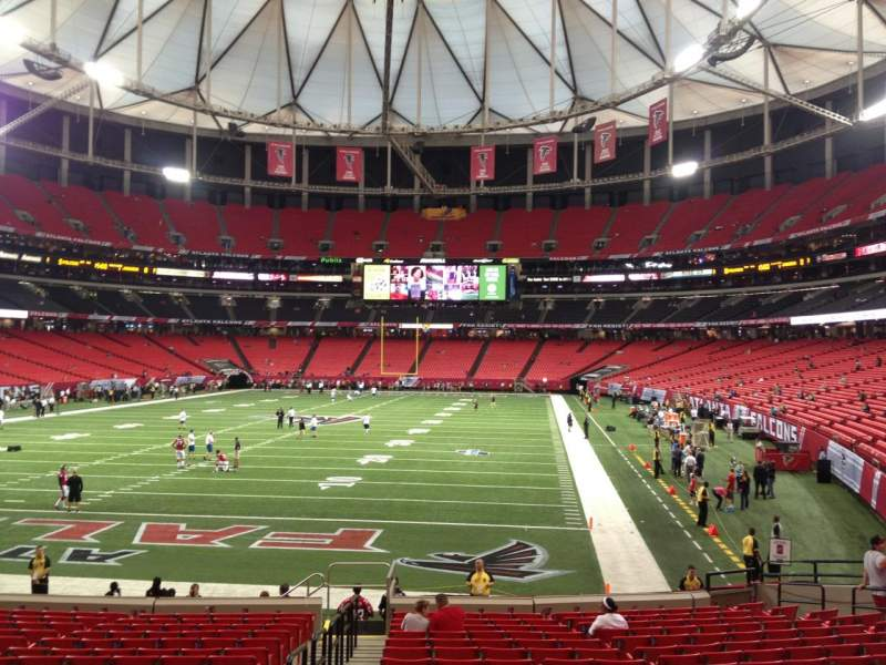 Seating view for Georgia Dome Section 103 Row 19 Seat 1