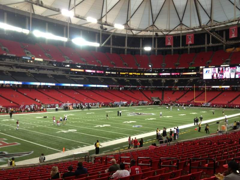Seating view for Georgia Dome Section 101 Row 21 Seat 12