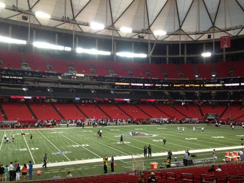 Seating view for Georgia Dome Section 138 Row 23 Seat 8