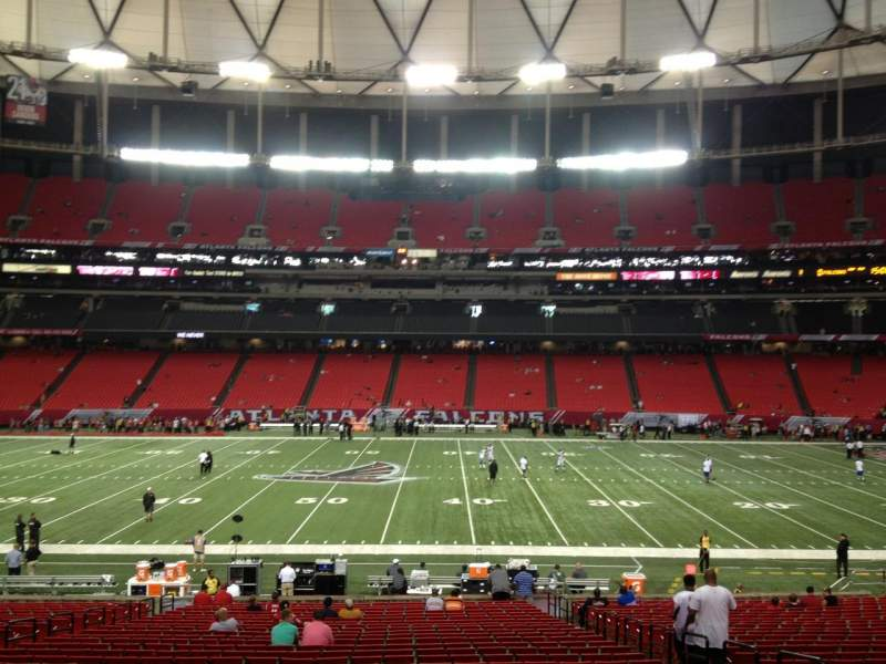 Seating view for Georgia Dome Section 135 Row 31 Seat 15