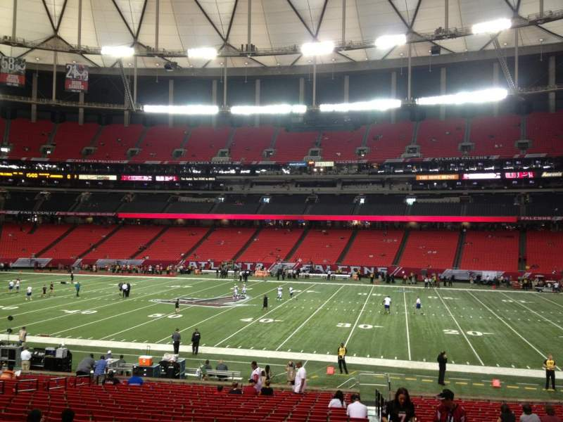 Seating view for Georgia Dome Section 134 Row 27 Seat 12