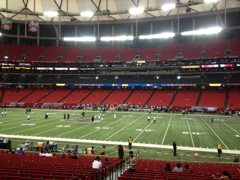 Seating view for Georgia Dome Section 133 Row 25 Seat 4