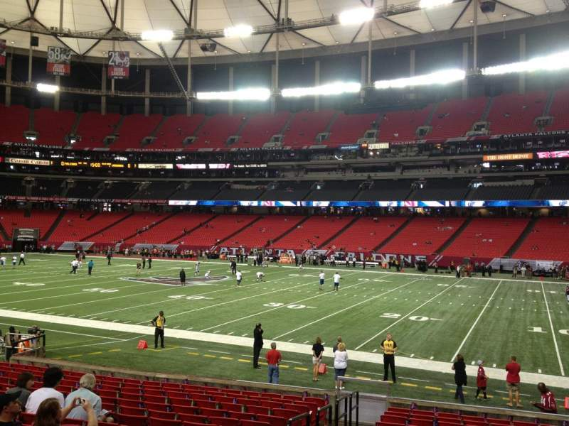 Seating view for Georgia Dome Section 132 Row 16 Seat 2