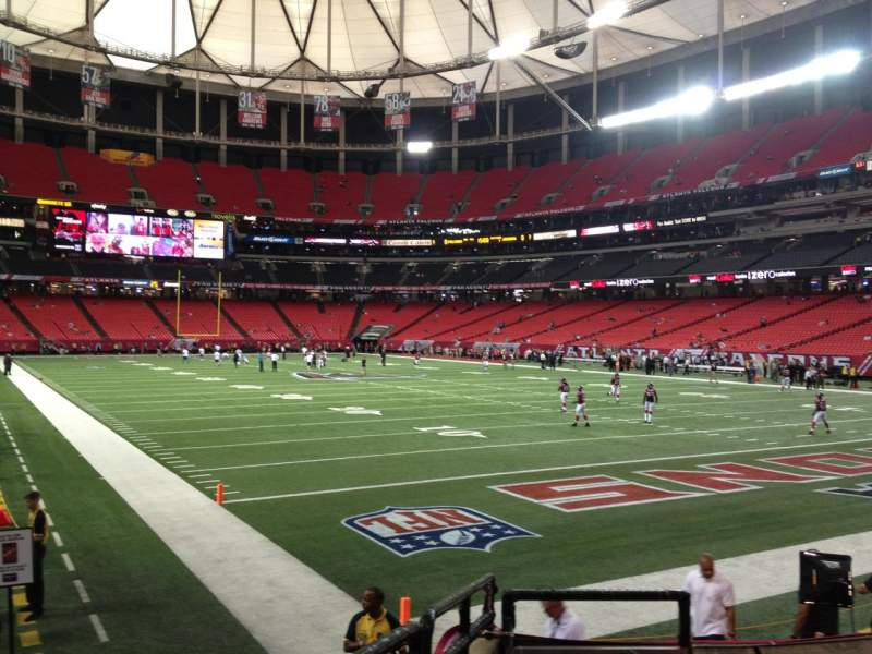 Seating view for Georgia Dome Section 129 Row 7 Seat 2