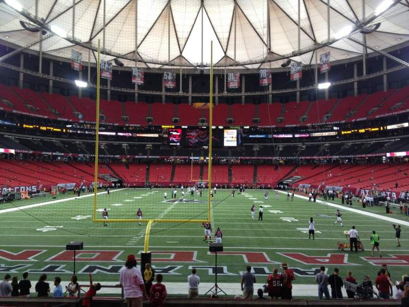 Seating view for Georgia Dome Section 127 Row 8 Seat 1