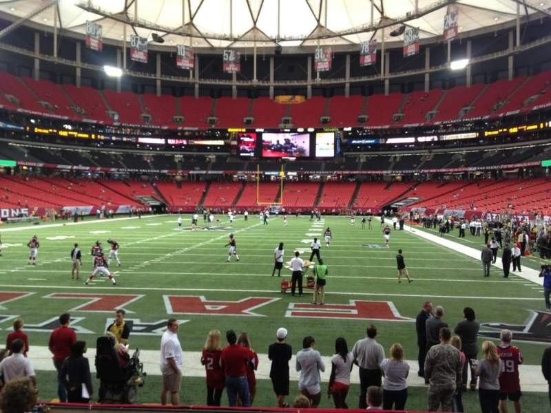 Seating view for Georgia Dome Section 125 Row 13 Seat 5