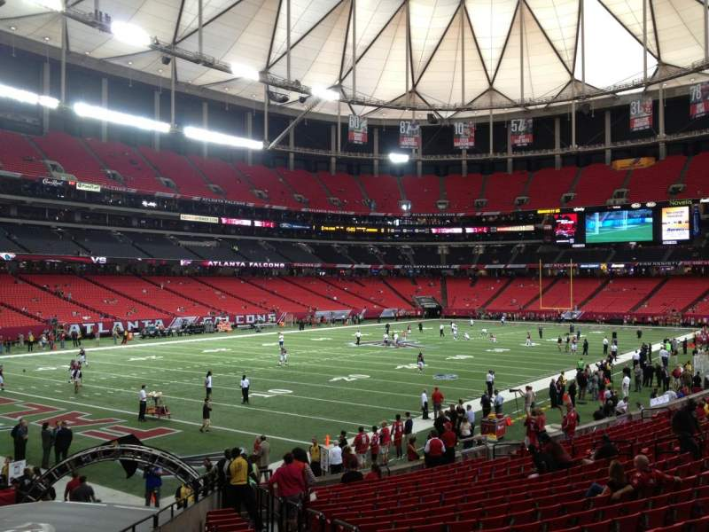 Seating view for Georgia Dome Section 123 Row 20 Seat 17
