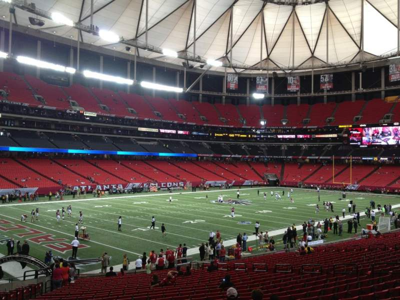 Seating view for Georgia Dome Section 122 Row 21 Seat 21