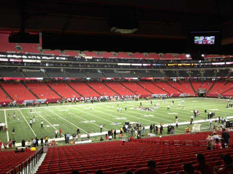 Seating view for Georgia Dome Section 120 Row 34 Seat 11
