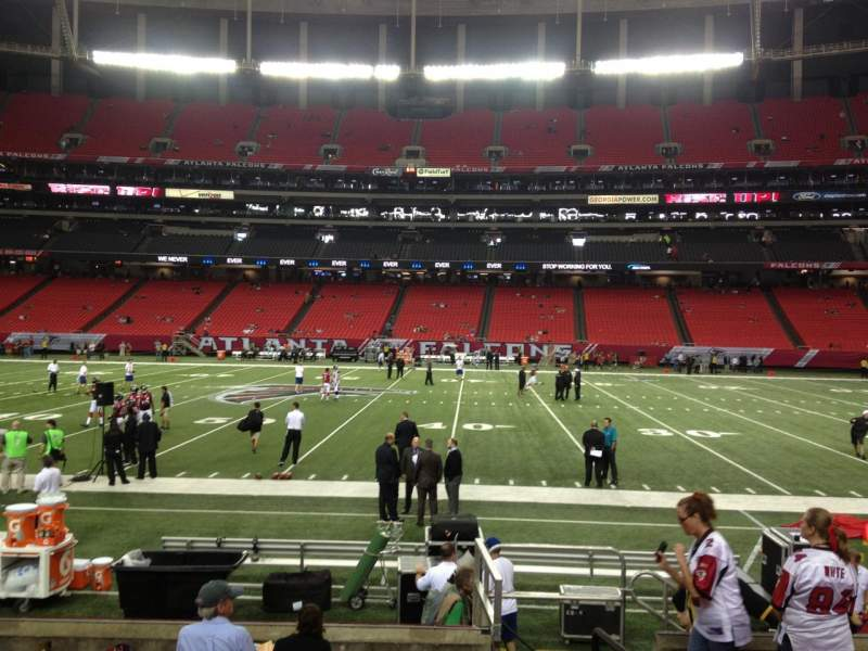 Seating view for Georgia Dome Section 114 Row 9 Seat 2