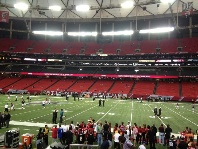 Seating view for Georgia Dome Section 113 Row 10 Seat 1