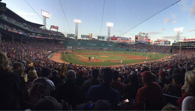 Seating view for Fenway Park Section Grandstand 19 Row 1 Seat 3