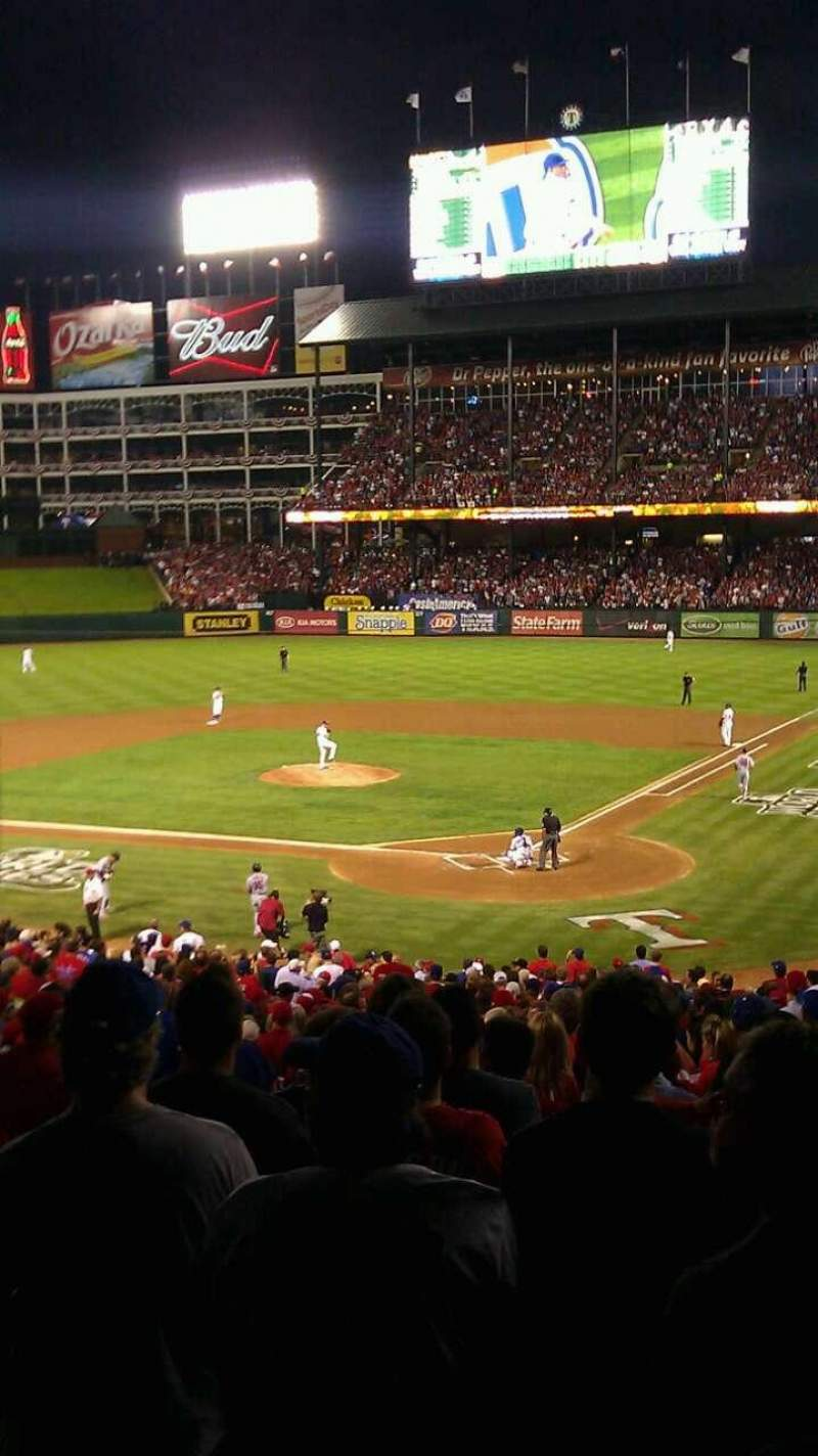 Seating view for Globe Life Park in Arlington Section 124 Row 33 Seat 14