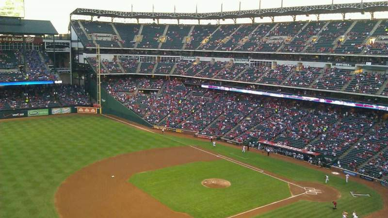 Seating view for Globe Life Park in Arlington Section 316 Row 1 Seat 1