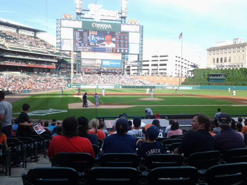 Seating view for Comerica park Section 124 Row 19 Seat 12