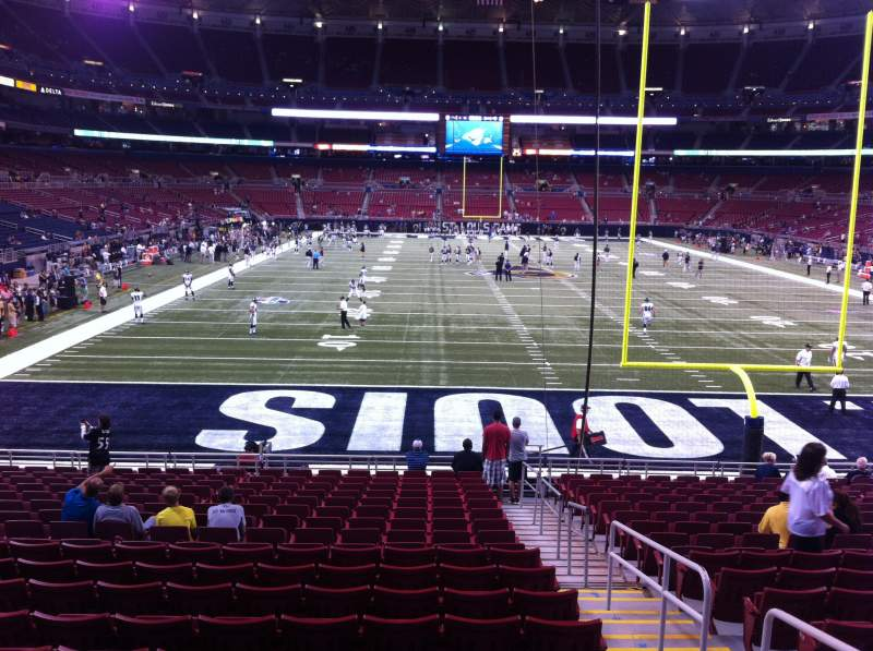 Seating view for The Dome at America's Center Section 101 Row U Seat 2