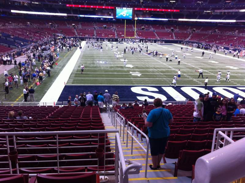 Seating view for The Dome at America's Center Section 102 Row AA Seat 1