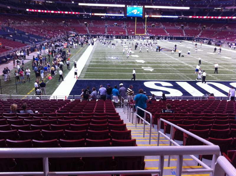 Seating view for The Dome at America's Center Section 103 Row U Seat 2