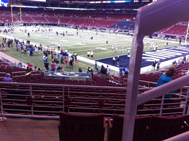 Seating view for The Dome at America's Center Section 106 Row AA Seat 1