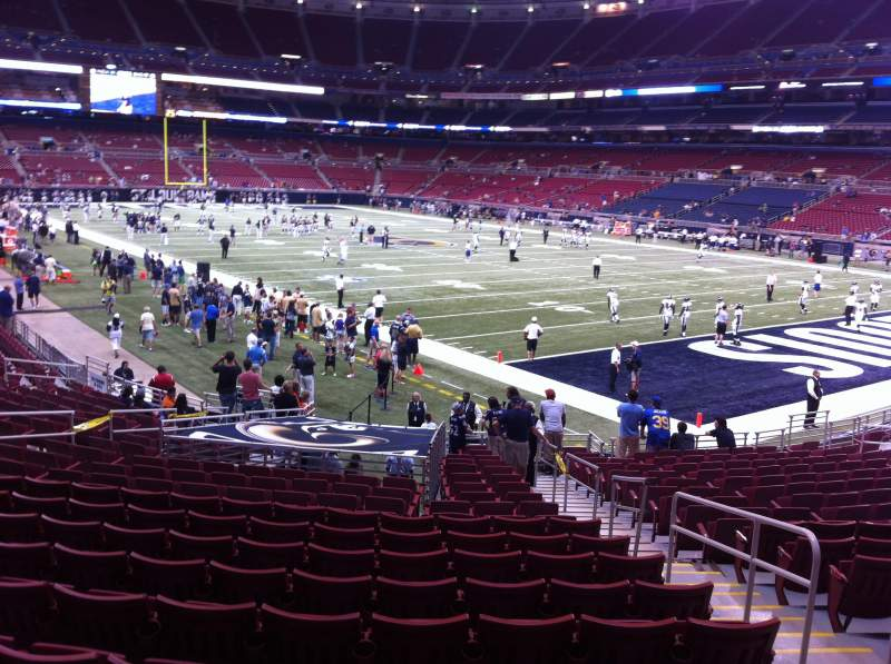 Seating view for The Dome at America's Center Section 107 Row U Seat 2