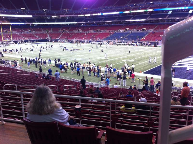 Seating view for The Dome at America's Center Section 108 Row AA Seat 1