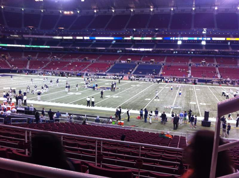 Seating view for The Dome at America's Center Section 112 Row AA Seat 1