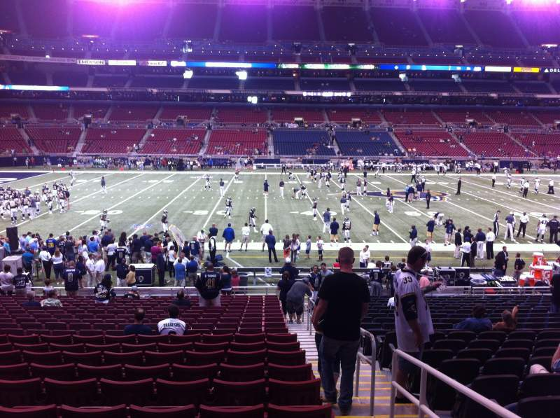 Seating view for The Dome at America's Center Section 115 Row U Seat 2