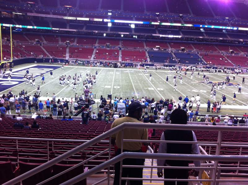 The Dome at America's Center, section: 116, row: CC, seat: 1