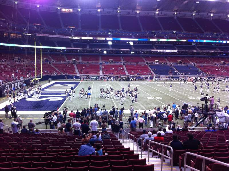 Seating view for The Dome at America's Center Section 118 Row U Seat 2