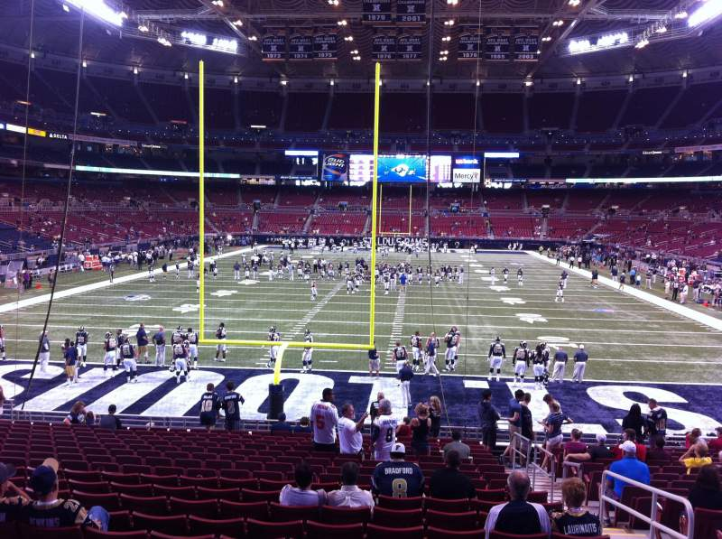 Seating view for The Dome at America's Center Section 127 Row U Seat 2