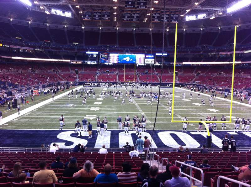Seating view for The Dome at America's Center Section 128 Row U Seat 2