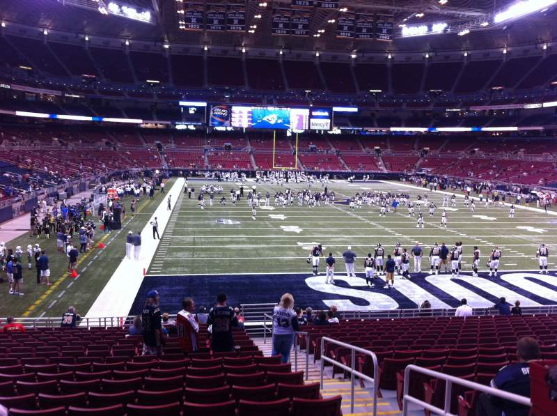 Seating view for The Dome at America's Center Section 130 Row U Seat 2