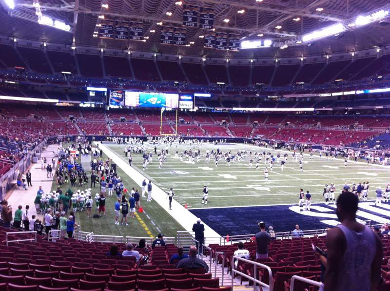Seating view for The Dome at America's Center Section 132 Row U Seat 2
