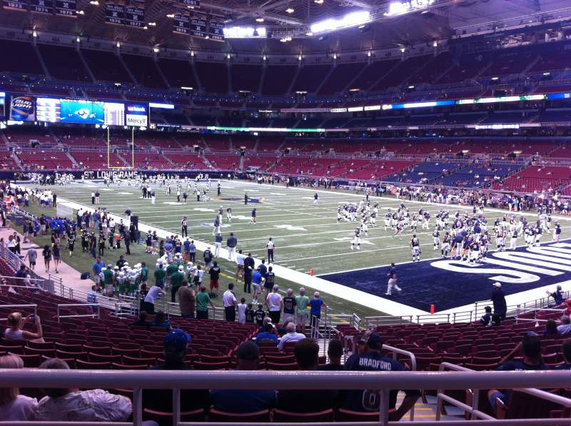 Seating view for The Dome at America's Center Section 134 Row U Seat 2