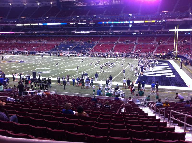 Seating view for The Dome at America's Center Section 137 Row U Seat 2