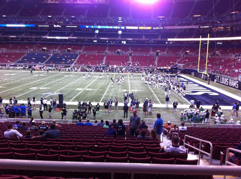 Seating view for The Dome at America's Center Section 138 Row U Seat 2
